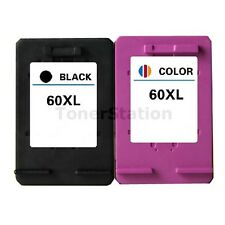 2x Ink Cartridge 60XL for HP Deskjet D1660 D2660 F2400 F4200 F4400 F4492 Printer