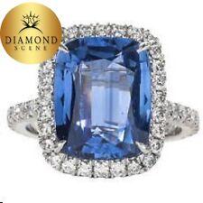 Fabulous Sapphire 6.40 ct Diamond 1ct Platinum Ring