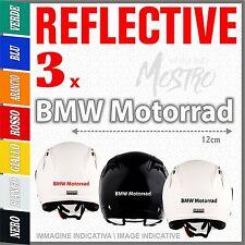 3x BMW MOTORRAD white ADESIVI PEGATINA STICKERS AUTOCOLLANT AUFKLEBER R1200GS