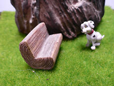 1 RESIN RUSTIC LOG PARK BENCH SEAT Terrariums Fairy Moss Gardens Dolls Houses
