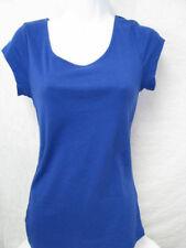 NWT Women's Old Navy blue purple cotton blend cap sleeve top size M