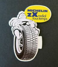Autocollant MICHELIN ZX Bibendum pneu tyre sticker Aufkleber Adesivi 7,5x9,5 cm