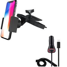 Holder CD Slot Car Mount w Power Type-C Quick Charger for USB-C Phones