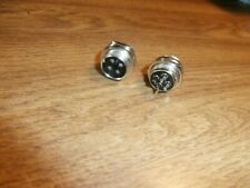 Lot2 Male 4 Pin Cbham Radio Microphone Panel Mount Mobile Connector 61 624