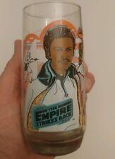 Vintage Empire Strikes Back Burger King Lando Calrisian Glass Billy Dee Williams