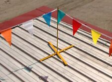 ACRO 21000 - Roof Warning Line System - 4 Post & 130' Warning Flag - Roofing