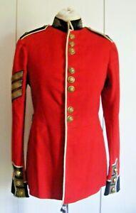 """Vintage red wool felt military tunic jacket Scots Guards dated 1937 chest 37"""""""