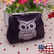 Cute Women Leather Owl Zipper Wallet Girls Clutch Card Coin Holder Purse Handbag