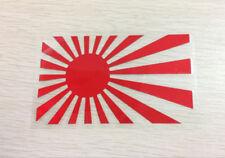 Rising Sun jdm japan flag decal Car Sticker 125mm x 75mm RED Reflective