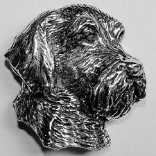 Hound Head Dog Brooch Pin Fox Otter Hunting Pewter Otter