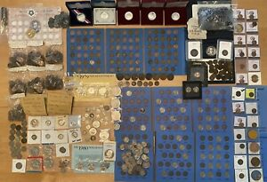HUGE ESTATE US COIN COLLECTION Peace Seated Silver Wheat Indian Mercury Barber