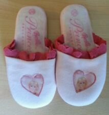Pantofole barbie princess per bambina misura 28 principessa bianche e rosa