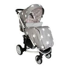 My Babiie MB200 From Birth Forward Facing Baby Pushchair / Pram - Grey Stars