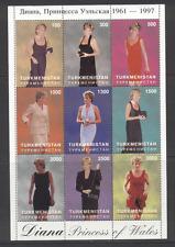 Turkmenistan PRINCESS DIANA/Fashion 9v sht ref:n12740
