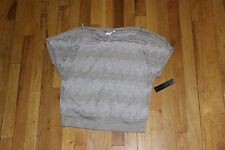 HEART SOUL SEQUIN FISHNET TANK BLOUSE SIZE LARGE NEW WITH TAGS