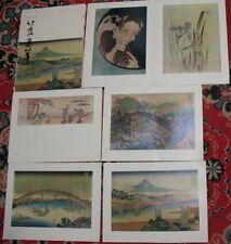 Japanese Japan painting Rare POST CARD Set 16 reproductions Big Hokusai Art Old2