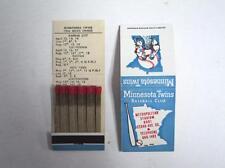 RARE 1966 Minnesota Twins Matchbook Schedule  MINT