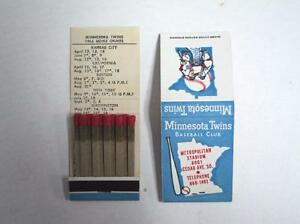 1966 Minnesota Twins Matchbook Schedule RARE - FLASH SALE