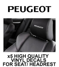 PEUGEOT LOGO HEADREST CAR SEAT DECALS Vinyl Stickers - Graphics X5