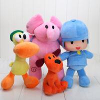 4pcs Doll Pocoyo Pato One Elly Stuffed Plush Bandai  Loula Figure Kids Toy Gift