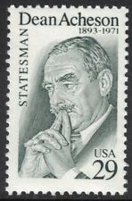 Scott 2755- Dean Acheson, Statesman- Mnh 29c 1993- unused mint stamp