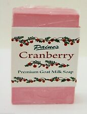 Paine's Cranberry GOAT MILK SOAP made in Maine natural skin care 4.5 oz. bar