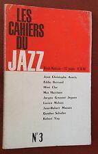 1961 LES CAHIERS DU JAZZ n°3 revue Cecil Taylor Erroll Garner Gerry Mulligan