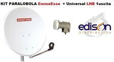 Kit parabola satellitare 80cm EmmeEsse completa di illuminatore LNB universale
