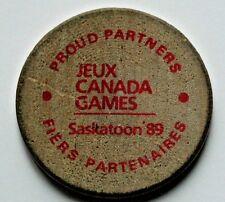 Saskatoon Jeux Canada Games 1989 Wood Medal - University Hospital wooden nickel