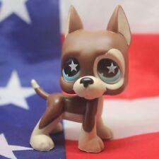 Littlest Pet Shop LPS555 Toys Puppy brown Great Dane Dog
