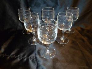 lot de 6 verres cristal d'arques 11,7 modele matignon
