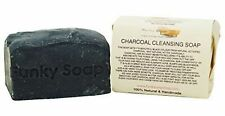Funky Soap Charcoal Cleansing Soap, 100% Natural Handmade, 1 bar of 120g