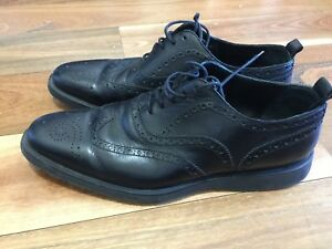 MENS SZ 42 BURBERRY LEATHER SHOES TOP CON *BUY FIVE OR MORE ITEMS GET FREE POST