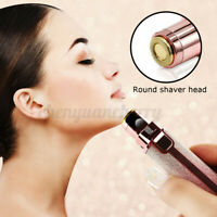 2 in 1 Women Painless Electric Eyebrow Hair Trimmer Epilator Remover Shaver