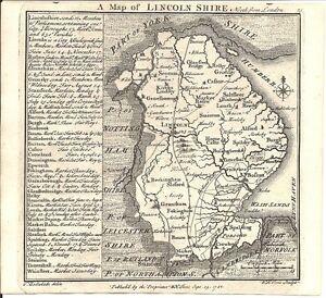 Antique map, Lincolnshire .