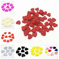 100pcs 18mm Colorful Wooden Hearts Chips Red Wood Love Confetti Slices Crafts^