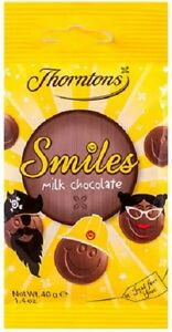 Thorntons Chocolates 4xGoodies, Treats - Lolly(s), Smiles(Buttons), Fudge, Coins