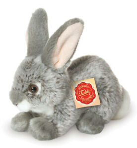 Grey Rabbit plush soft toy bunny by Teddy Hermann - 18cm - 93701