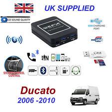 Para Fiat Ducat Bluetooth Telefono en Tiempo Real Entrada Auxiliar 2x USB Sd