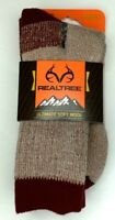 REALTREE Men's Merino Wool (69%) Boot Socks 3 pair