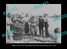 OLD LARGE HISTORIC PHOTO MILDURA VICTORIA, VIEW OF THE RIVER DIVER c1906