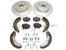 SMART CAR FOR TWO ROADSTER FRONT 2 BRAKE DISCS AND PADS + REAR SHOES FITTING KIT