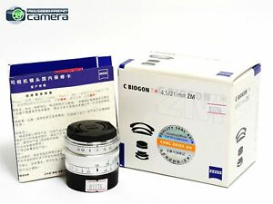 Zeiss Biogon 21mm F/4.5 ZM T* Lens Silver Leica M Mount *MINT in Box*