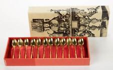 French Christofle France Natacha Gold Wash 12 Piece Demitasse Set Lot 1619