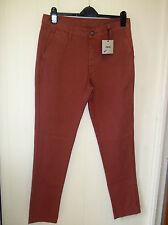 ASOS Brown Cotton Casual Chino Slim Leg Trousers - Sizes 30/32 & 32/32 - BNWT!!