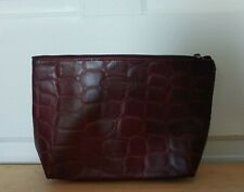 NEW Estee Lauder maroon, faux leather make-up bag