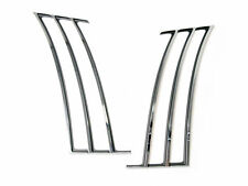 2010-15 Camaro Chrome Quarter Panel Trim Side Vent Inserts Shark Gills - Pair