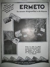 PUBLICITE DE PRESSE ERMETO MOVADO MONTRE BIJOU HORLOGERIE FRENCH AD 1928