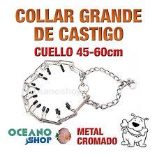 COLLAR DE CASTIGO PERRO CUELLO Gde 45-60cm ANCHO 3,5cm ADIESTRAMIENTO L14 1015