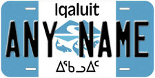 Iqaluit Nunavut Flag Canada Any Name Novelty Car License Plate